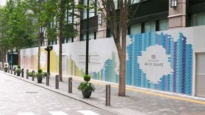 工事中 防護板 | 丸の内ブリックスクエア