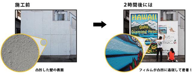 古くなった家の壁や塀をリニューアルしてイメージを変えたいと思っています | 凸凹面に貼れるフィルムで壁や塀のリニューアル